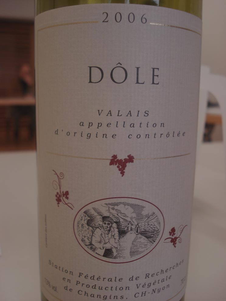 Dôle Wine Label (Click Image to Enlarge)