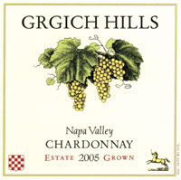 Grgich Hills Chardonnay Label (Click Image to Enlarge)