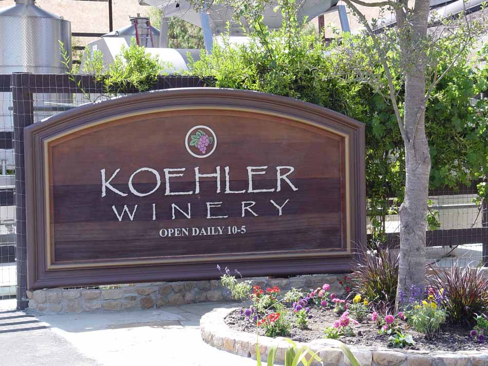 Koehler Winery (Click to Enlarge)