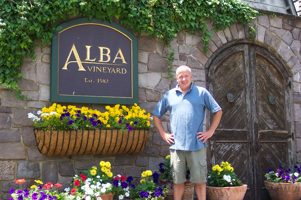 Alba Vineyards Winemaker John Altmale (click to enlarge)