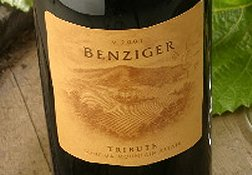 Benziger Tribute Wine (click to enlarge)