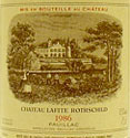 Lafite Rothschild Pauillac Label