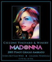 Ciccone Vineyard Madonna Wine Label